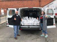 feedmore van driver volunteers delivers meals to children
