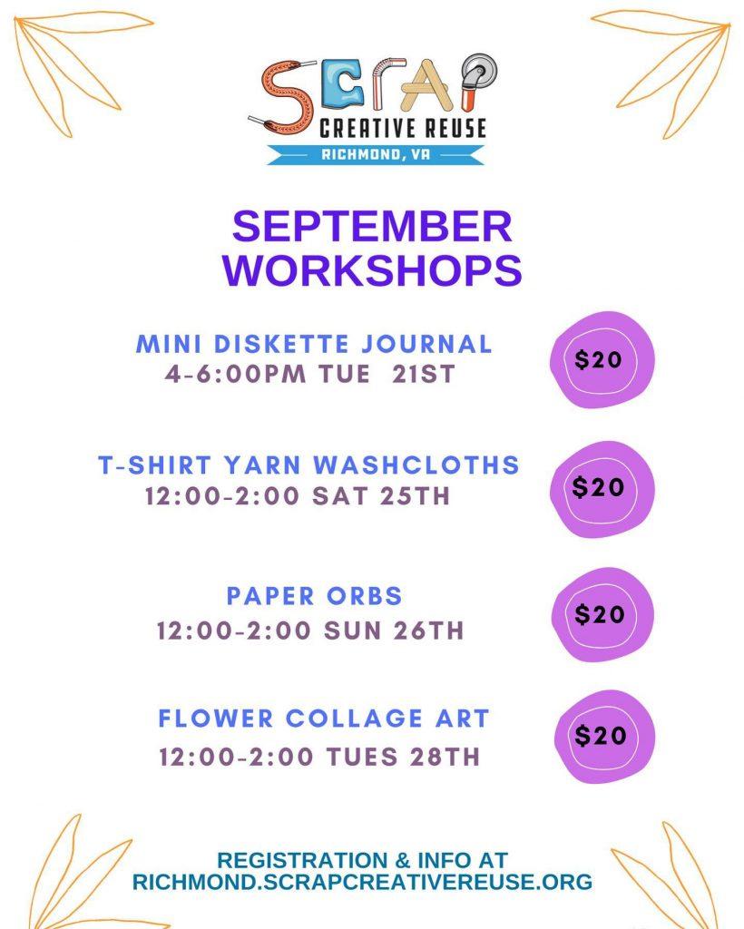 Scrap Sept workshops