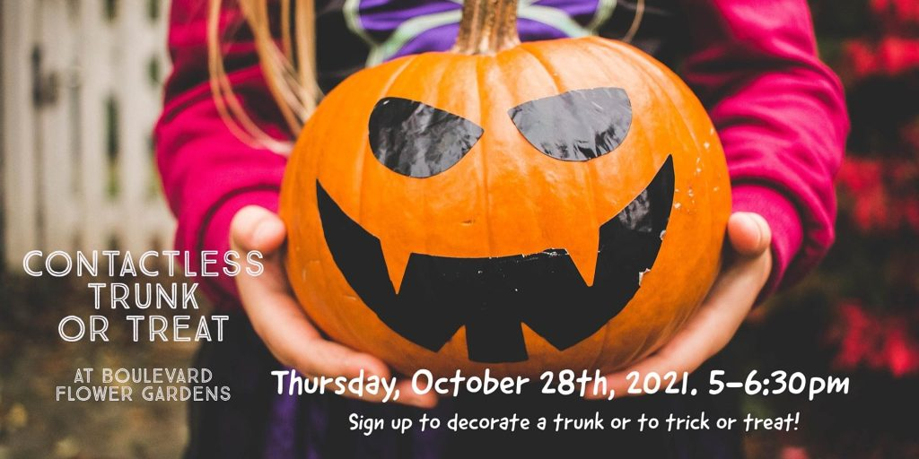 Contactless Trick or Treating at Boulevard Flower Gardens