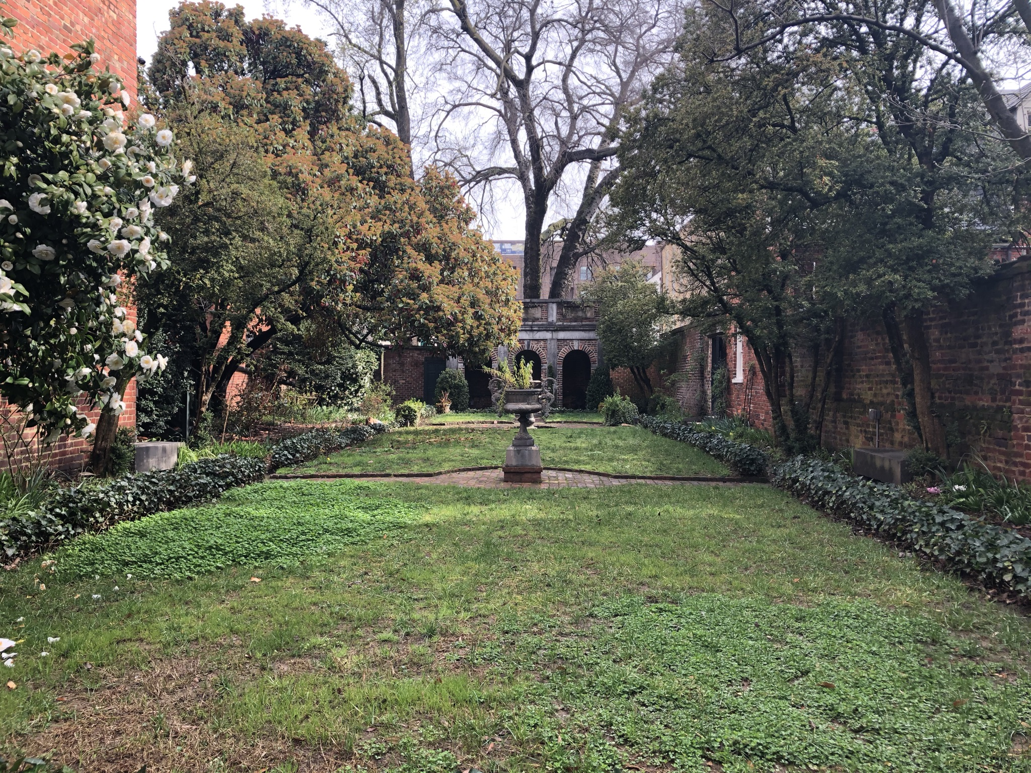 enchanted garden at the Poe Museum