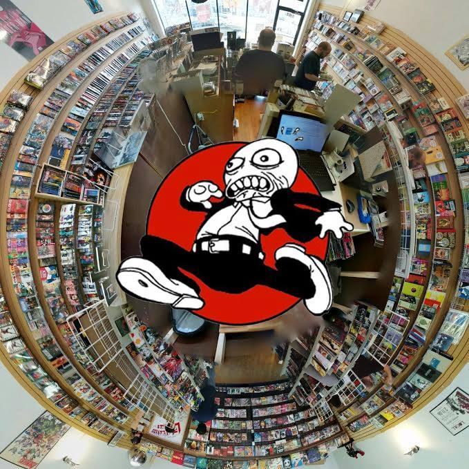birds eye view of Velocity Comics