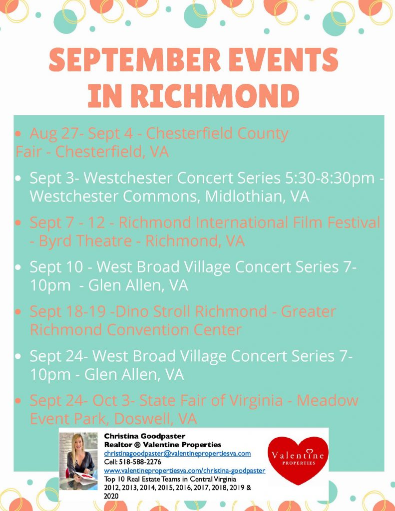 SepTEMBER EVENTS IN RICHMOND