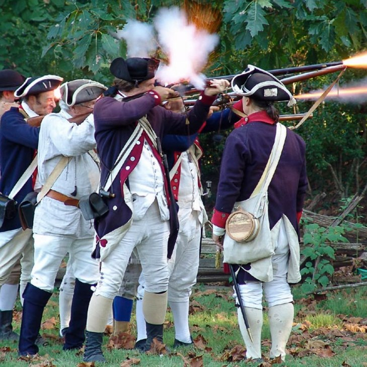 Musket firing