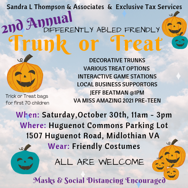 differently abled Trick or Treating